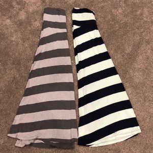 Lot of 2 Gap Maternity Maxi Skirts